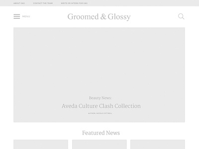Groomed & Glossy Wireframe
