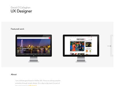 Portfolio Home portfolio designer work