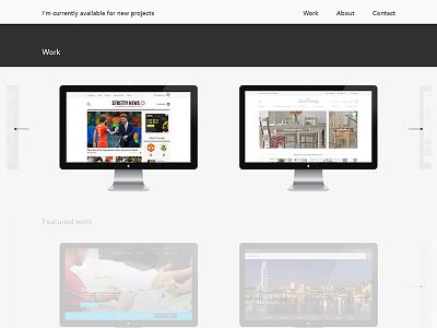 Portfolio work nav portfolio designer work navigation