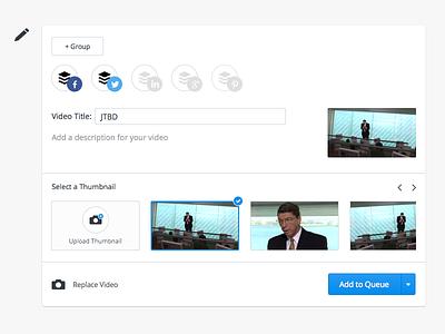 Buffer for video video upload composer buffer