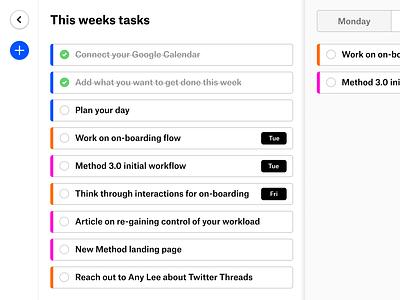 Method 2.0 planner tasks todo calendar
