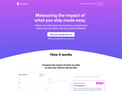 Landing page for Conduct