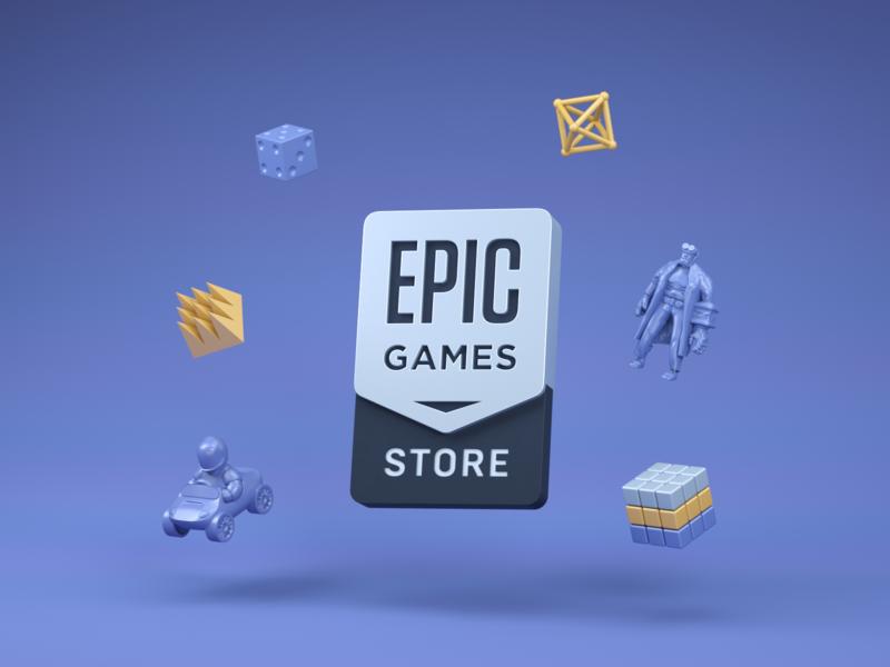 Epic Games Store cinema4d photoshop freelance branding vector steam epic games store cyberpunk 2077 3d design logo illustration games