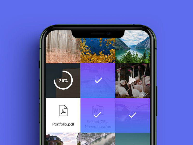 AirForShare 2.0 apple interface iphone ux ui design ios app airforshare afs