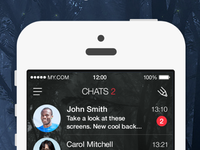 Night Theme for myChat Messenger