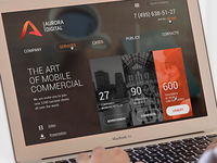 Aurora Digital Promo Web Site