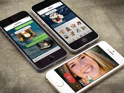 ICQ Screens for AppStore icq messenger appstore design ios iphone app