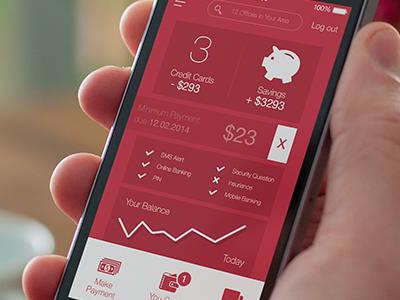 App for Bank bank app ui ux design ios iphone