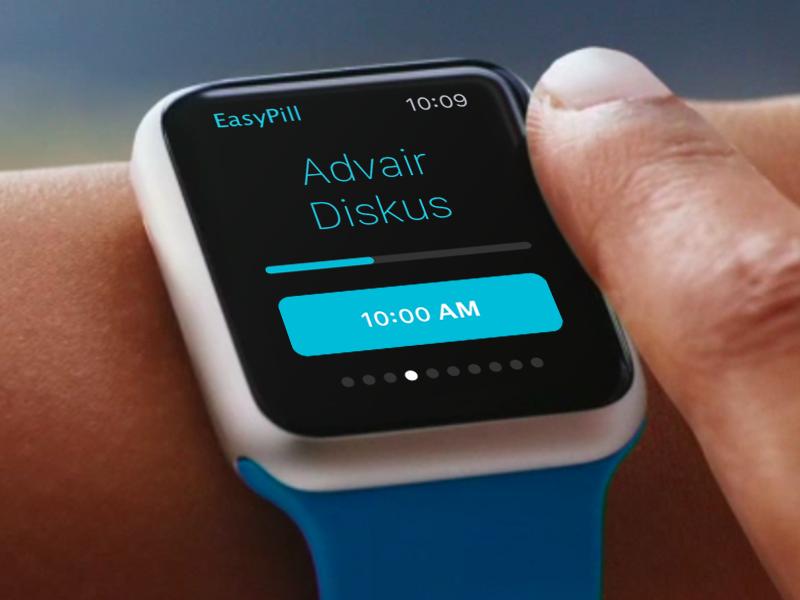 Easy Pill App for Apple Watch easypill apple watch ios app design ui ux