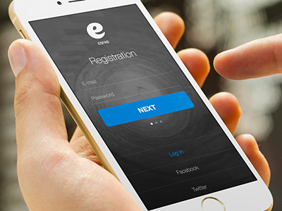 Clean and simple registration registration form apple ios design ui ux