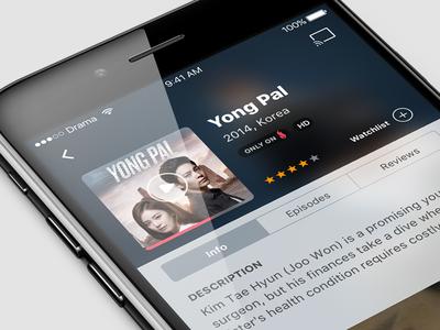 DramaFever iOS App series movies mobile app ux ui iphone ios