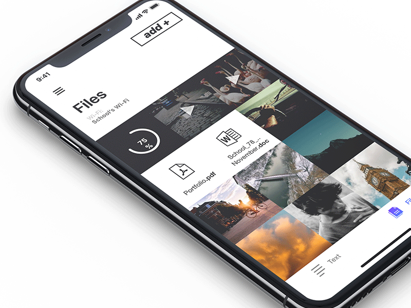 AirForShare 2.0 mockup ux iphonex ios app iphone airforshare