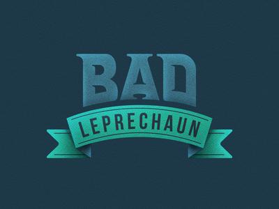 Bad Leprechaun Logo lettering type typography illustration web icon branding design logo