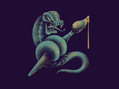 Illustration Badge promotion photoshop sketch sticker snake branding design icon illustration