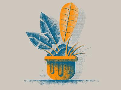 Dribble 13 screen print 2color plant fun design brush vector photoshop illustration