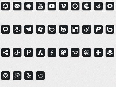social icon set 6 icons dribbble freebie