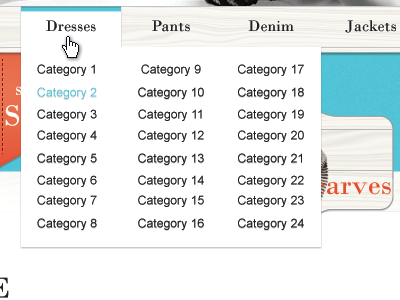 Toning Down The Drop Down wip webdesign web design