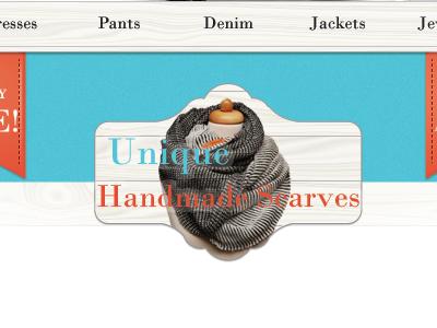 Unique Handmade Scarves wip webdesign web design
