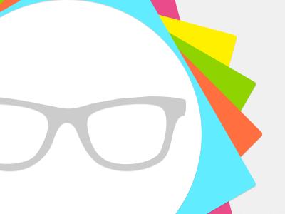 Tone down the glasses logo mark branding wip