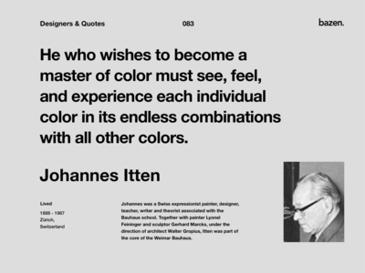 Quote - Johannes Itten
