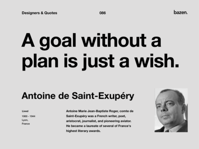 Quote - Antoine de Saint-Exupery