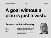 Quote - Antoine de Saint-Exupery