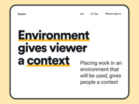 Tips - Environment gives viewer a context