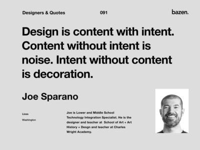 Quote - Joe Sparano