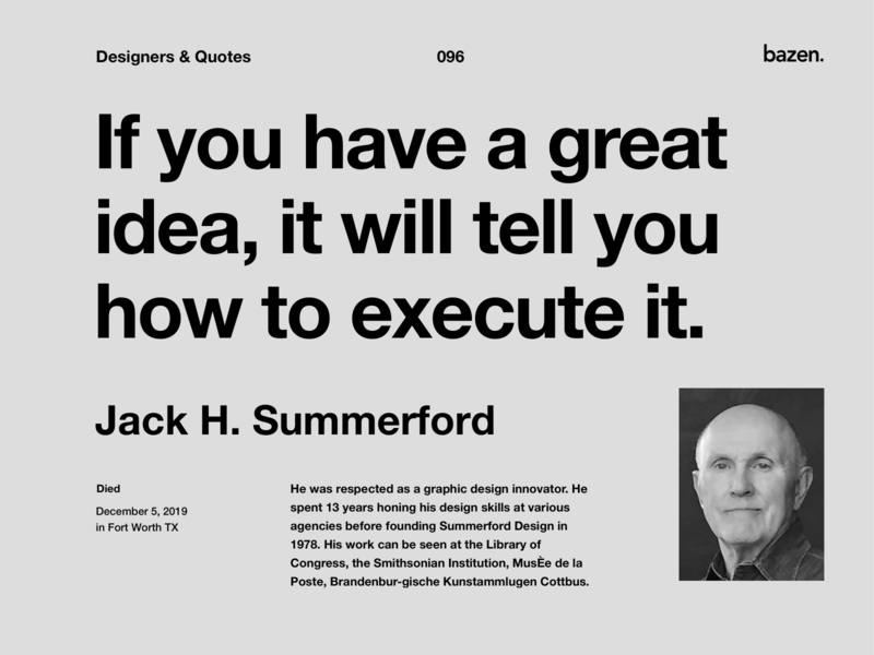 Quote - Jack H. Summerford uidesing uxdesign uiuxdesign uiux inspirational quotes uidesign quoteoftheday quote design design strategy product design motivational quotes inspiration design inspirational quote designtips design tips design thinking design quotes design quote design inspiration design agency