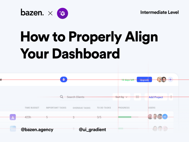 UI Tip - Dashboard alignment