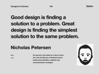 Quote - Nicholas Petersen