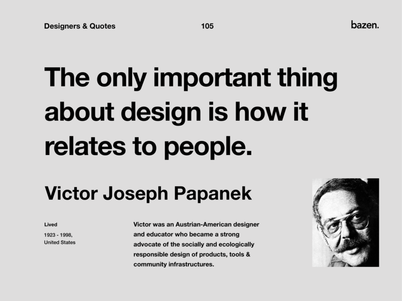 Quote - Victor Joseph Papanek