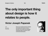 Quote - Victor Joseph Papanek