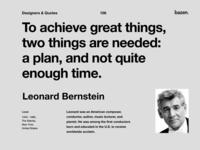 Quote - Leonard Bernstein