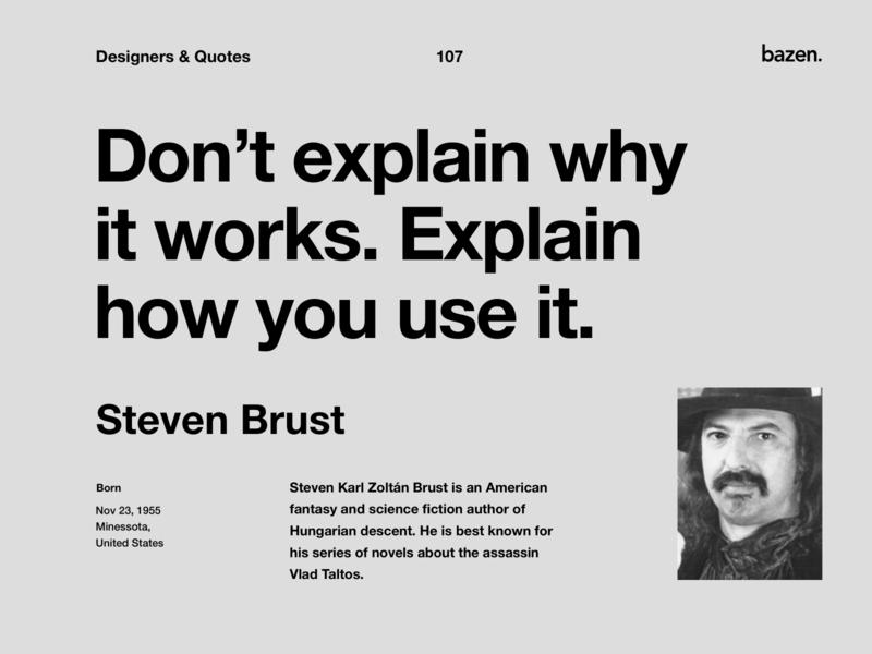 Quote - Steven Burst