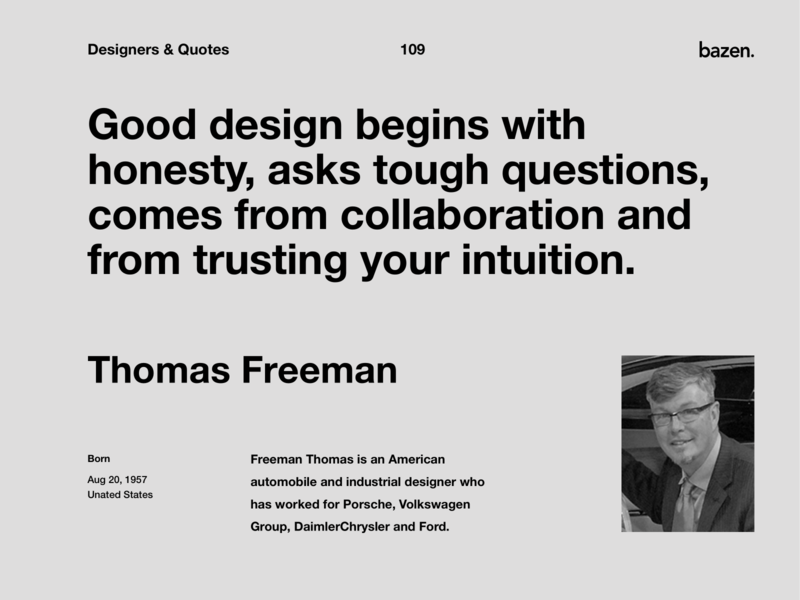 Quote - Freeman Thomas