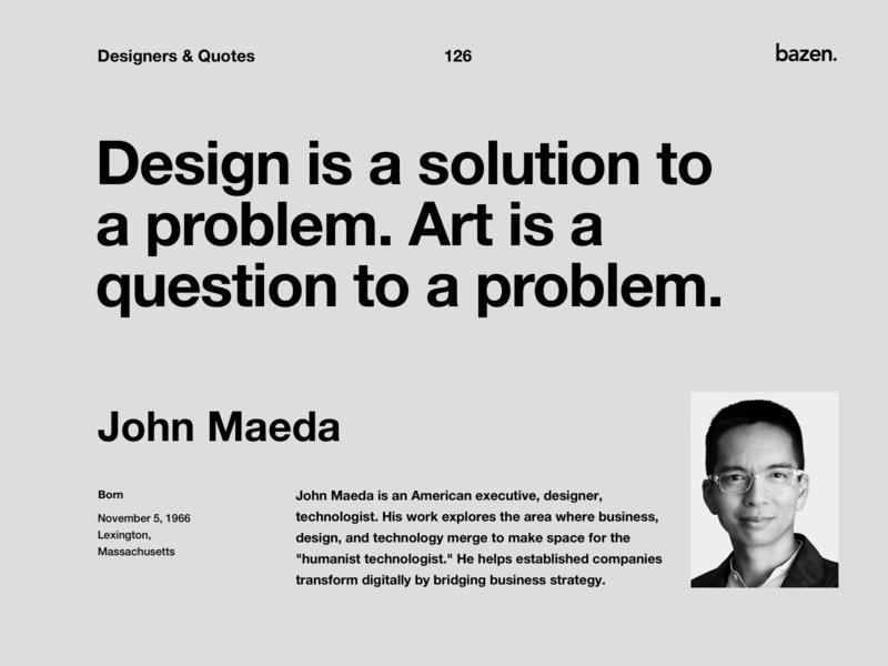 Quote - John Maeda inspirational quotes inspirational quote uxui ux ux design uxdesign quote design design quotes design quote motivational quotes motivationalquote ui design uidesign ui  ux uiux ui designtips design tips design tip design agency