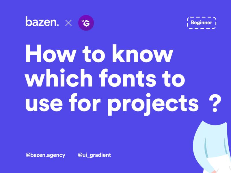 UI Tip - How to Know Which Fonts to Use design thinking uiinspiration uiux design uiuxdesigner googlefonts uiuxdesign dailyui uidesign ui  ux uiux typographydesign typography typefacedesign typeface fontdesign designtips design tips design tip ui design agency