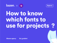 UI Tip - How to Know Which Fonts to Use design thinking uiinspiration uiux design uiuxdesigner googlefonts uiuxdesign dailyui uidesign ui  ux uiux typographydesign typography typefacedesign typeface fontdesign designtips design tips design tip ui design agency