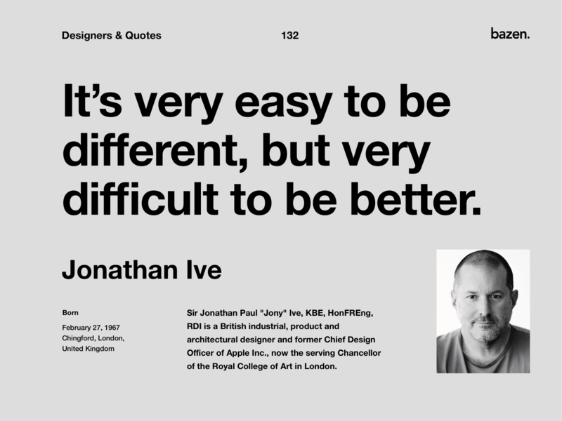 Quote - Jonathan Ive