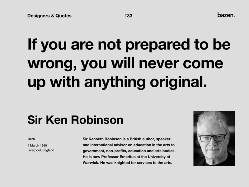 Quote - Ser Ken Robinson
