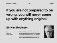Quote - Ser Ken Robinson uxui ux ui  ux uiuxdesigner uiux design uiuxdesign uiux ui inspirational quotes inspirational quote inspirational motivational motivational quotes motivationalquote designinspiration quoteoftheday quote design design quotes design quote design agency