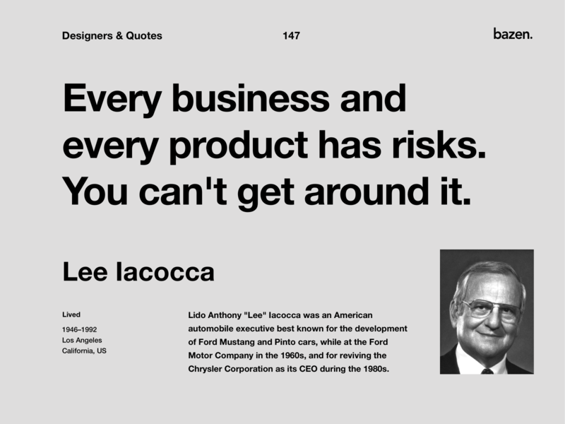 Quote - Lee Iacocca uiux uidesigners uidesigner designtips design agency design quote quoteoftheday inspirational design tip ux design design quotes motivational quotes ui design design tips product design inspirational quote ui quote design
