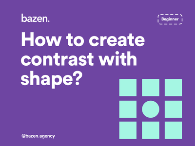 UI Tip - How to Create Contrast With Shape design inspiration design thinking design agency shapes shape elements contrasting contrast design tips design tip designtips uidesignpatterns uidesigner uiux designer uiuxdesigner uiuxdesign uiux ux ui