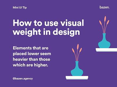 Mini UI Tip - Visual Weight uiuxdesign uiuxdesigner web design webdesign graphic designer graphic  design graphic design graphicdesign ui design uidesign uiux hierarchy visual design designtips design tips design tip product design ux ui
