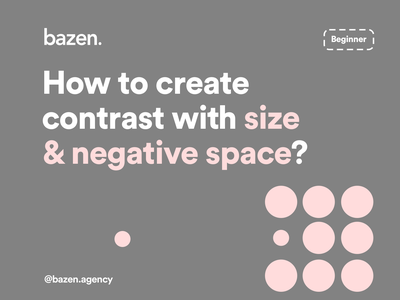 UI Tip - How to create contrast with size and negative space design principles design thinking composition web design webdesign graphic design graphicdesign negative space negativespace layout exploration layout design layout contrast design agency designtips design tips design tip uiux ux ui