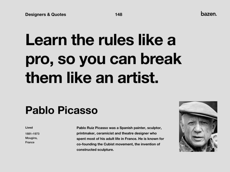 Quote - Pablo Picasso ui design principles design tips pablo picasso uiux design uiux ux ui inspirational quotes inspirational quote motivationalquote motivations motivational quotes quoteoftheday quote design design quotes design quote design agency