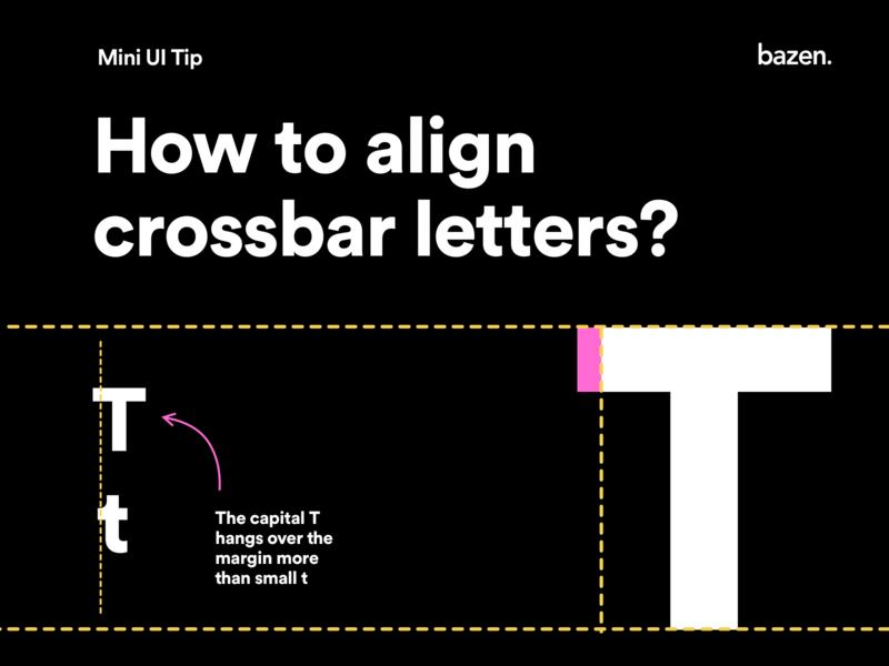 Mini UI Tip - How to align crossbar letters letters typo typographic designtips design tips design tip design agency uiux uxdesigner uxdesign uidesigner uidesign typography art typography poster typography design typography ux ui
