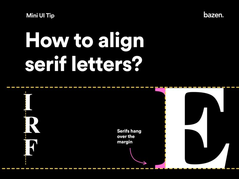 Mini Ui Tip - How to Align Serif Letters serif typeface serif fonts serif font serif letters typographic typogaphy typography uxui ui  ux ui design uidesign uiux designtips design tips design tip ux ui