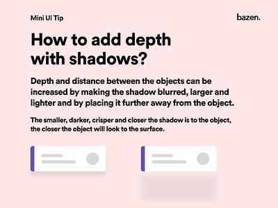 Mini UI - Depth with shadows design ui design userexperience userexperiencedesign userinterface design userinterfacedesign userinterface uiux design shadows uiux uxdesigner uxdesign ux uidesigner uidesign ui